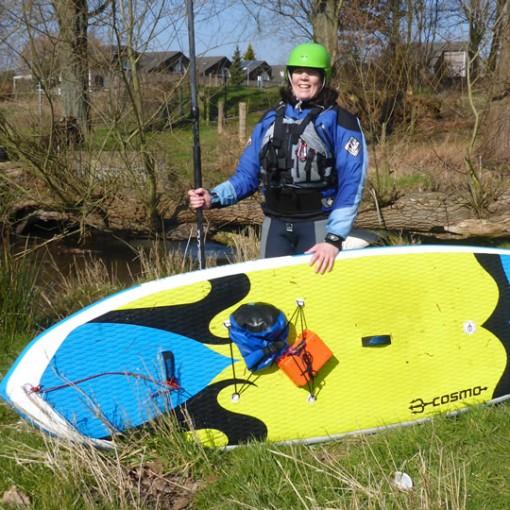 SIREN SUPsurfing Wildwasser SUP - Stand Up Paddling auf fließendem Gewässer