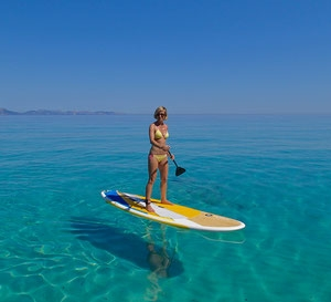 SUP Surfing Strand Meer Traumspot