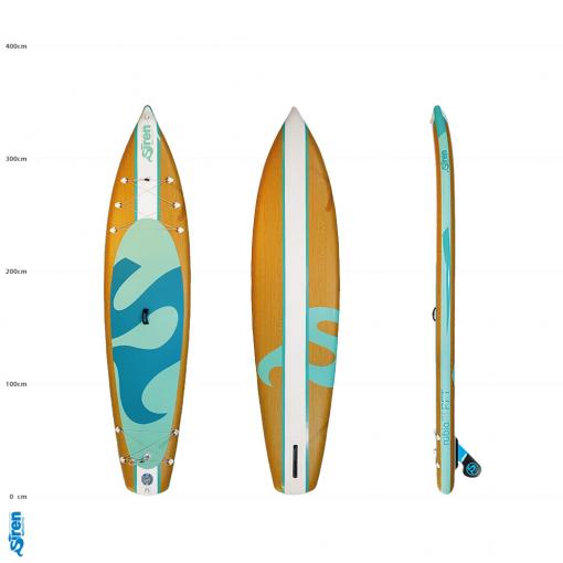 SIREN rubio 11.2 das schönste SUP Board zum aufblasen in Holzoptik