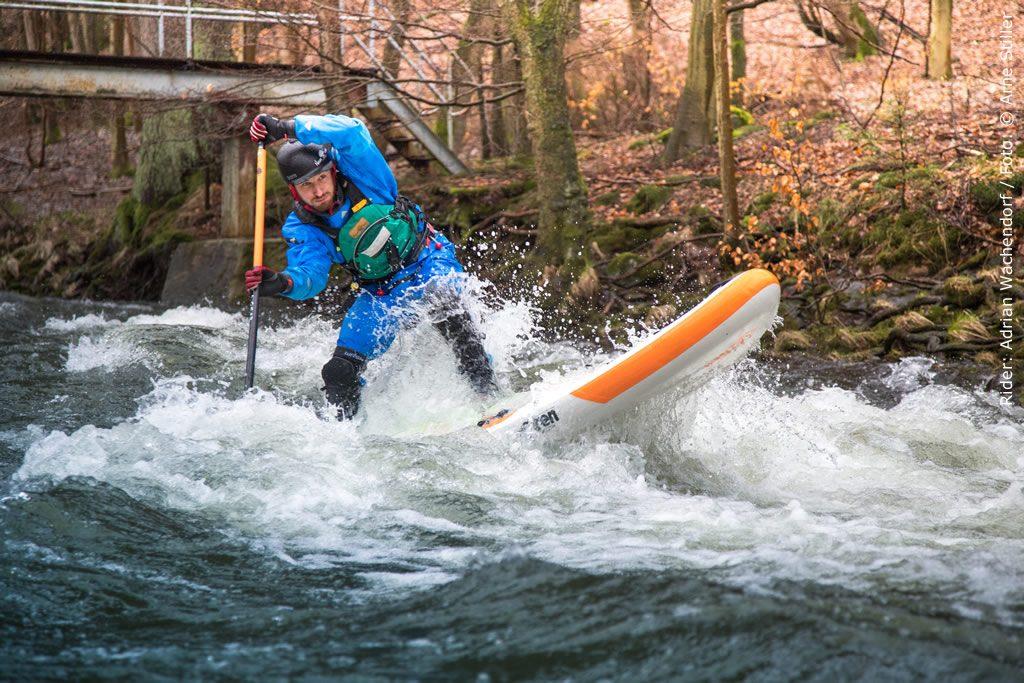 Whitewater SUP Test mit SIREN Supsurfing und dem snapper