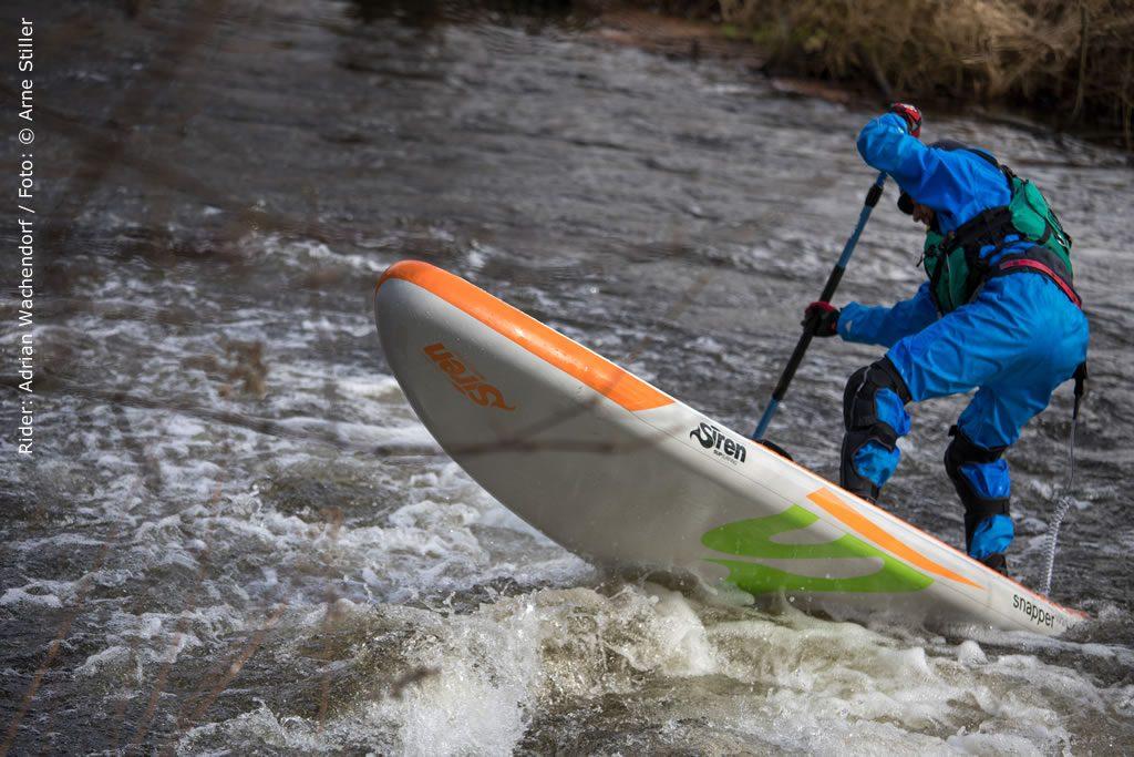 Wildwasser Fluss SUP Test Bestes SUP Board von SIREN ist der Snapper
