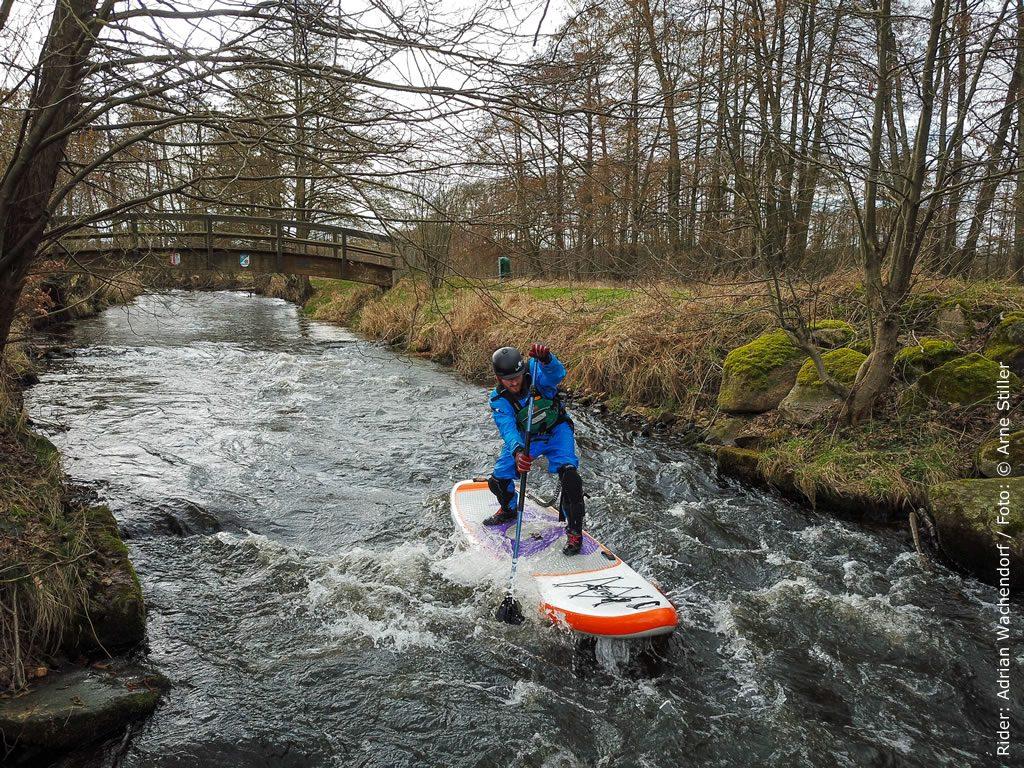 SUP Wildwasser Test Bestes SUP Board für Flüsse: Siren snapper 10.2 HCT in der 4.75er Edition