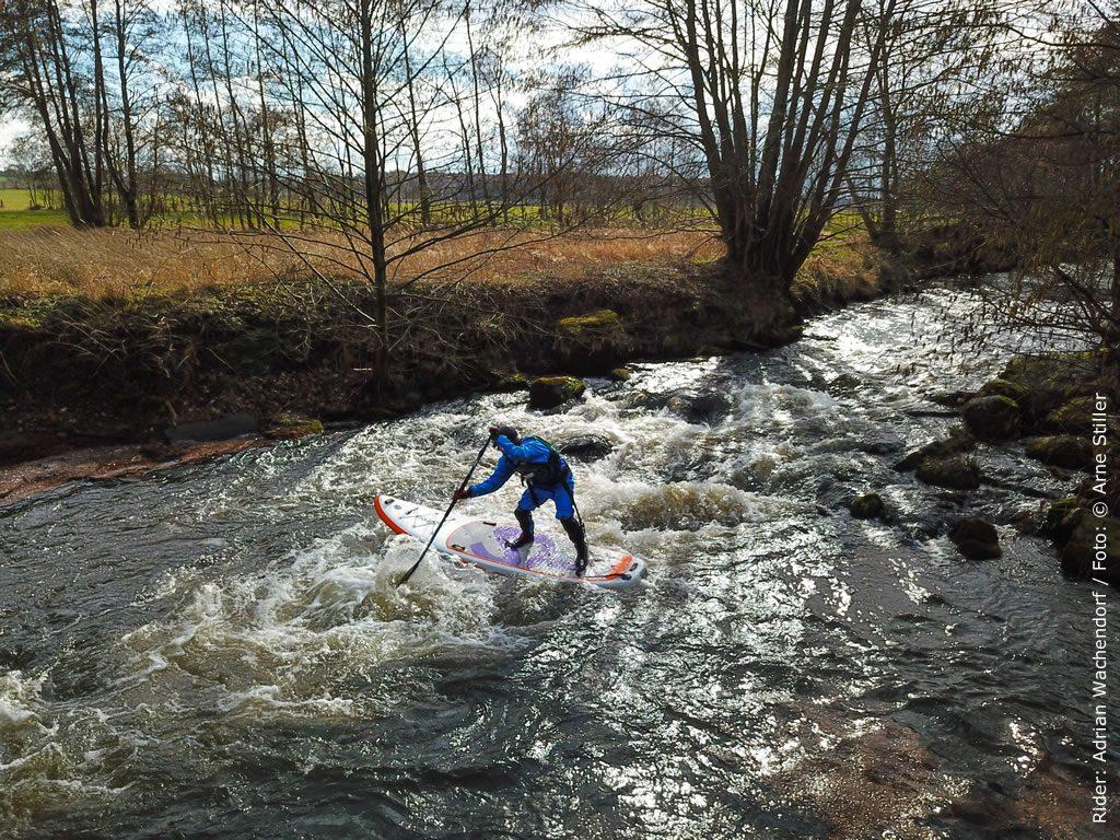 SUP Wildwasser Test Bestes SUP Board für Flüsse: Siren snapper 10.2
