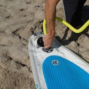 Schnelle SUP Handpumpe für Paddleboards