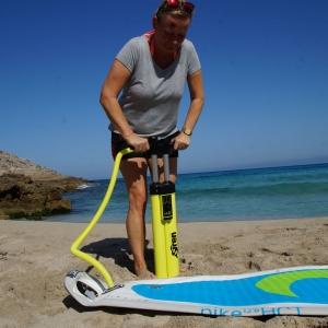 SUP Pumpe mit Tripple Action von SIREN SUPsurfing