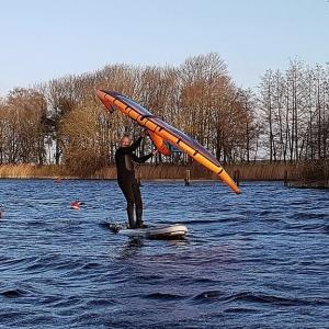 Wingsurfing auf dem SUP Board Siren Mahi