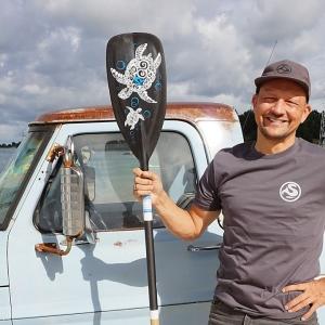 T-Shirt für Stand Up Paddler
